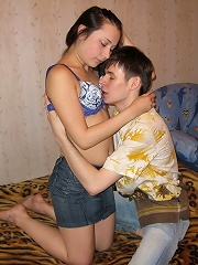 Sex with brunette beauty