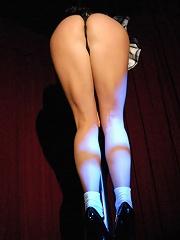 Megan strip tease dancing!