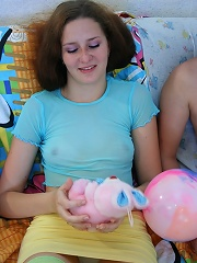 Cute brunette teen sucks that dick and swallows the load